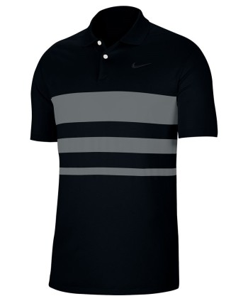 Nike Mens Dri-Fit Vapor Chest Stripe Polo Shirt