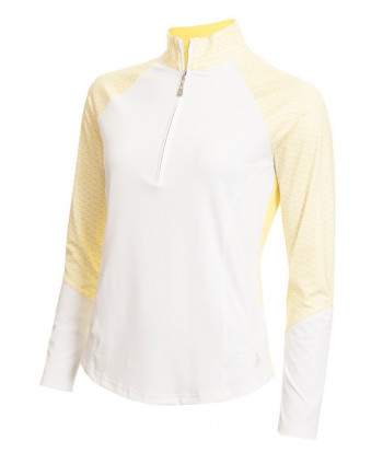 Green Lamb Ladies Lily Long Sleeve Polo Shirt with Contrast Panels