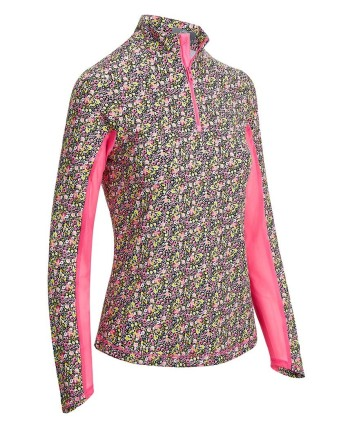 Dámske golfové tričko Callaway Ditsy Print Sun Protection