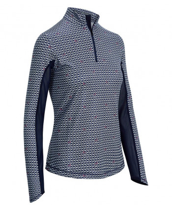 Dámske golfové tričko Callaway Quarter Zip Colour Block