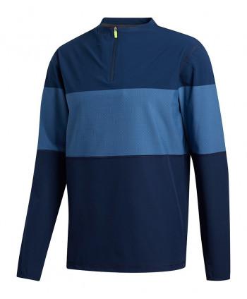 Pánska golfová mikina Adidas Midweight FZ Textured