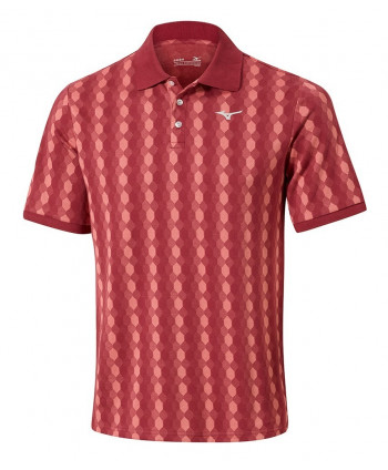 Mizuno Mens Micro Hexagonal Jacquard Polo Shirt