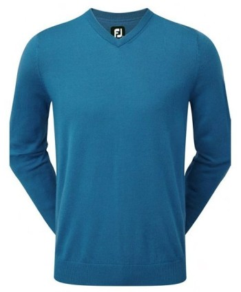 FootJoy Mens Lambswool V Neck Pullover