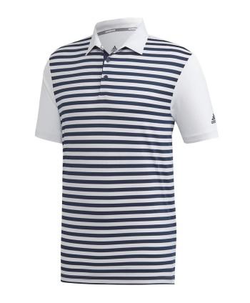 Pánské golfové triko Adidas Ultimate 3-Colour Merch Stripe