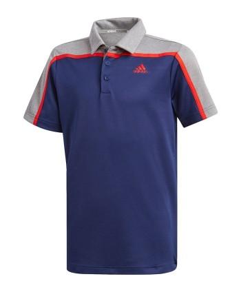 Detské golfové tričko Adidas Heathered Colour Blocked
