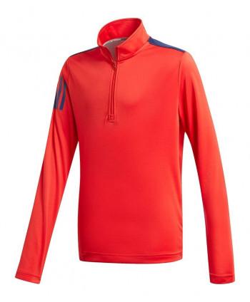 Detská golfová mikina Adidas 3 Stripe Half Zip
