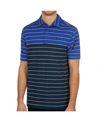 Pánské golfové triko Under Armour Playoff Wide Stripe