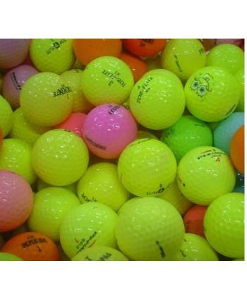 Mix hraných barevných golfových míčků (26 ks)