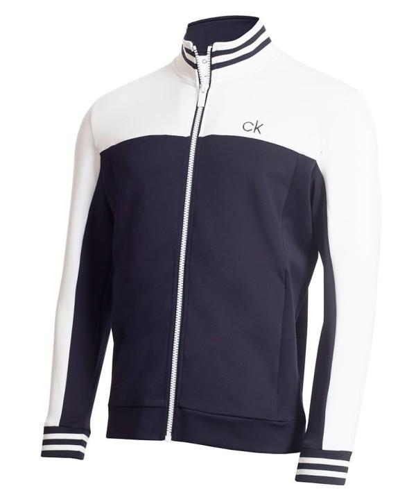 Calvin Klein Mens Retro Performance Full Zip Sweater