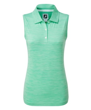 FootJoy Ladies Lisle Neck Trim Sleeveless Shirt
