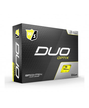 Wilson Duo Optix Yellow Golf Balls (12 Balls)
