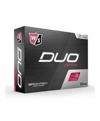 Golfové míčky Wilson Duo Optix Pink (12 ks)