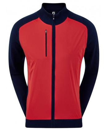 Pánska golfová mikina FootJoy Half Zip Lined Wool Blend