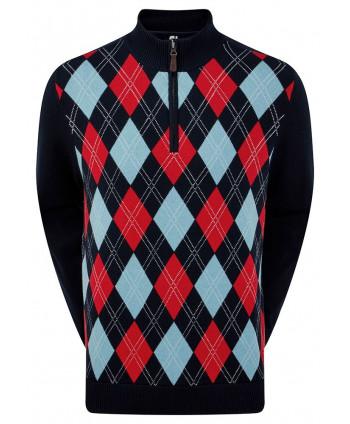Pánská golfová mikina FootJoy Full Zip Lined Wool Blend
