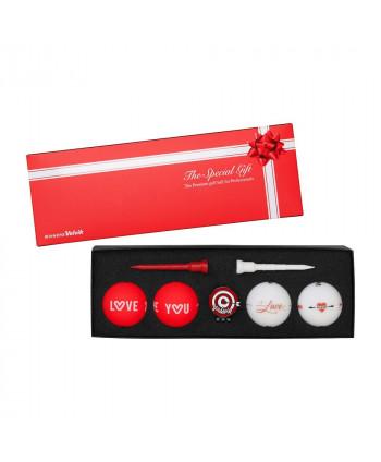 Volvik VIVID Christmas Pack (4 balls, ball marker, x2 tees)