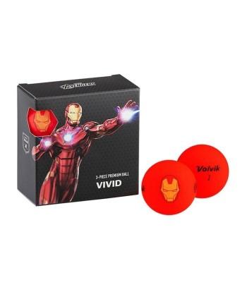 Volvik Marvel Golf Balls - 4 Pack Iron Man