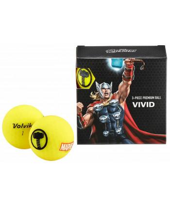 Marvel balení golfových míčků Volvik Thor (4ks)