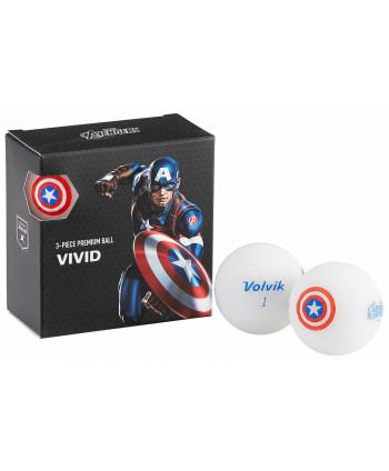 Volvik Marvel Golf Balls - 4 Pack Captain America