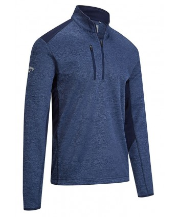 Callaway Mens Dual Action Heathered Fleece Pullover