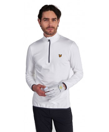 Lyle and Scott Mens Technical Quarter Zip Pullover Top