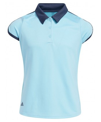 adidas Girls ColorBlock Short Sleeve Polo Shirt