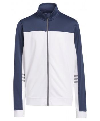 adidas Boys Full Zip 3 Stripes Jacket
