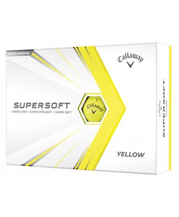 Golfové míčky Callaway Supersoft Matte Yellow (12 ks)