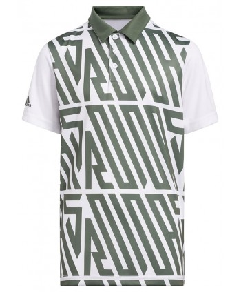 adidas Boys Printed Short Sleeve Polo Shirt