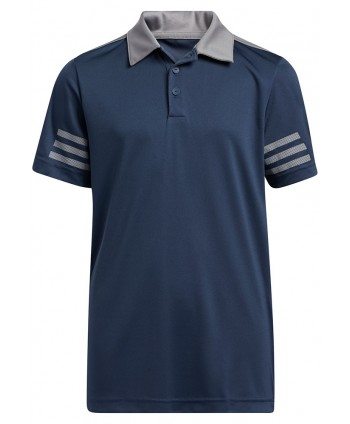 adidas Boys Stripe ColorBlocking Polo Shirt
