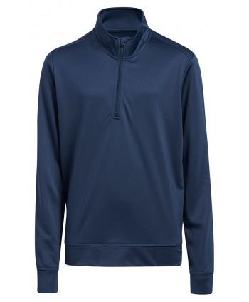 adidas Boys Quarter Zip Solid Pullover Top