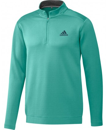 adidas Mens Club 1/4 Zip Pullover - Logo on Left Chest