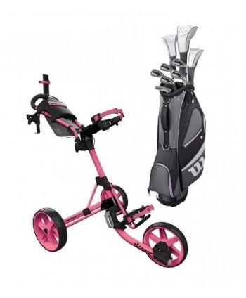 Dámsky golfový set Wilson X-31 + golfový vozík Clicgear M4