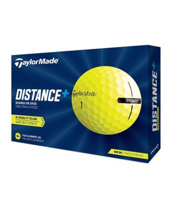 TaylorMade Distance Plus Yellow Golf Balls (12 Balls)