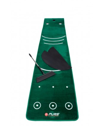 Pure2improve Dual Grain Putting Mat with Broom