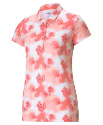 Puma Ladies Cloudspun Watercolour Floral Polo Shirt