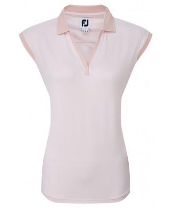 FootJoy Ladies End on End Striped Lisle Polo Shirt