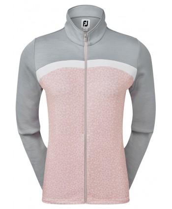 Dámská golfová mikina FootJoy Full Zip Curved Colour Block