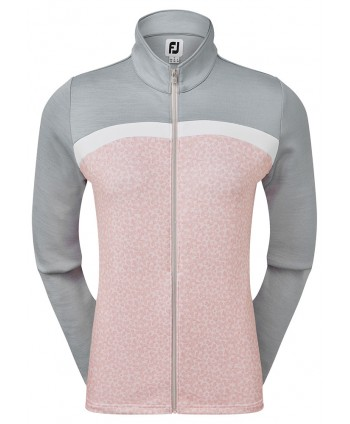 FootJoy Ladies Full Zip Curved Colour Block Midlayer Top