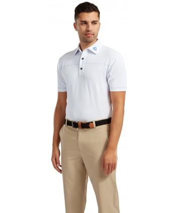Pánské golfové triko FootJoy Solid Pique with Spine Stitch