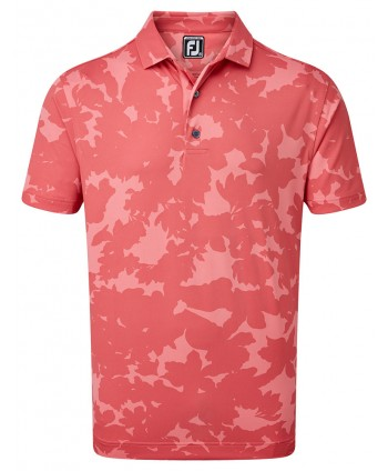 Pánské golfové triko FootJoy Pique Camo Floral Print