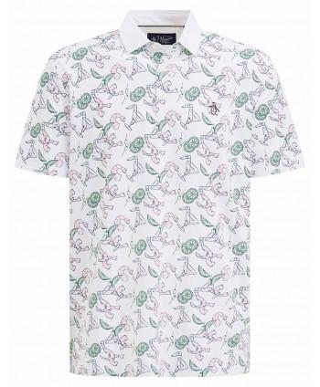 Pánské golfové triko Original Penguin All Over Shrimp Print