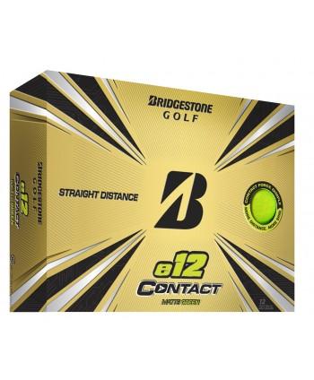 Bridgestone e12 Contact Matte Green Golf Balls (12 Balls)