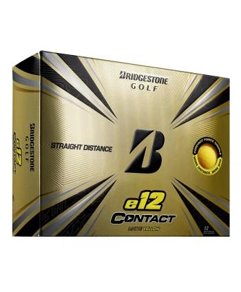 Bridgestone e12 Contact Matte Yellow Golf Balls (12 Balls)