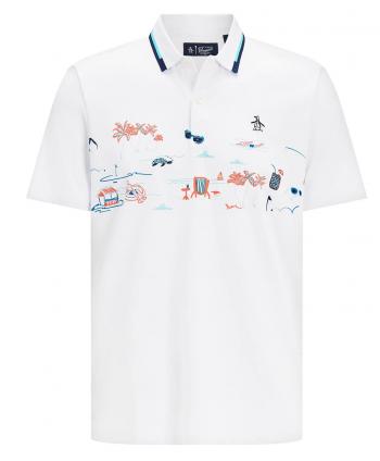 Original Penguin Mens Resort Print Polo Shirt