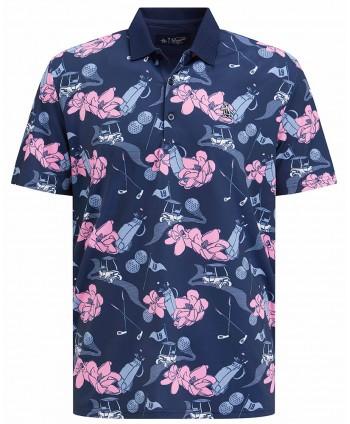 Original Penguin Mens Floral Conversational Print Polo Shirt