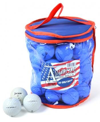 Mix hraných golfových míčků Srixon Z-Star Grade A (50 ks)