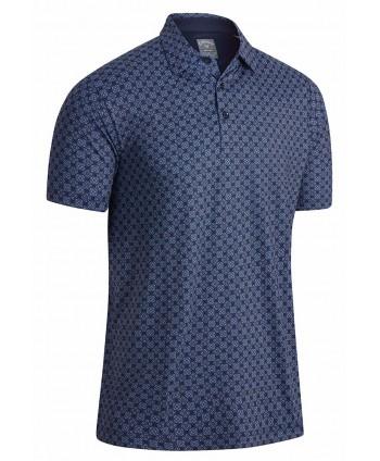 Callaway Mens Art Deco Foulard Printed Polo Shirt