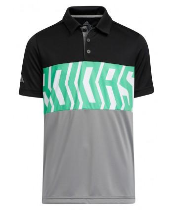 adidas Boys Print Colour Blocking Polo Shirt