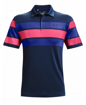 Under Armour Mens Playoff 2.0 Bold Mid Stripe Polo Shirt