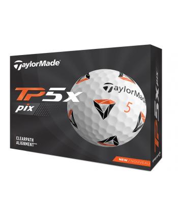Golfové míčky TaylorMade TP5x Pix 3.0 (12 ks)